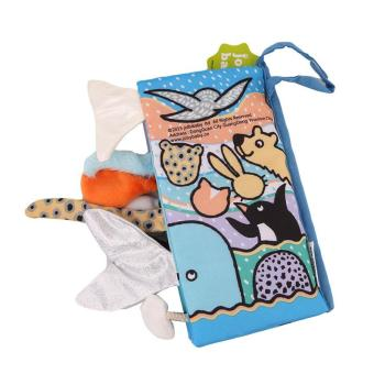 LALANG kartun hewan ekor bayi buku kain buku pendidikan kesadaran awal pengembangan mainan salju ekor - International - 2