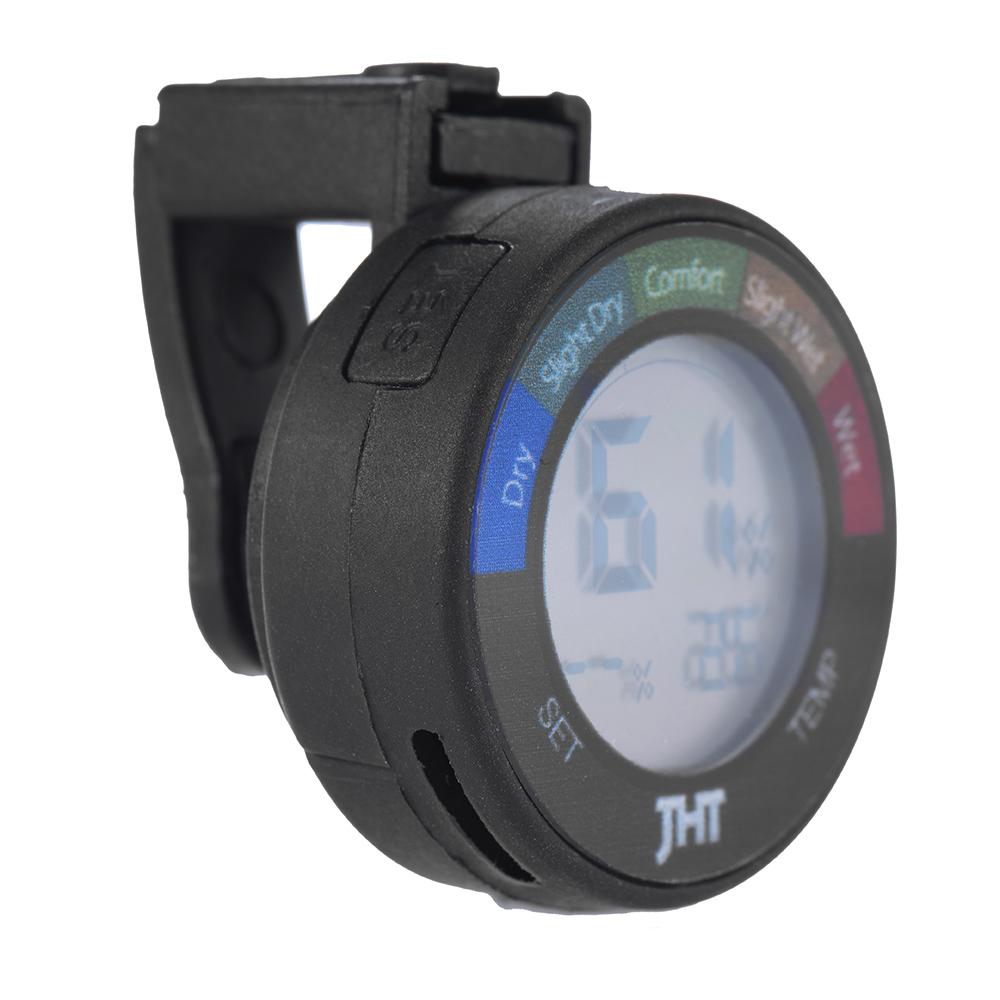 Paduan Perak Kelembaban Termometer Hygrometer Kasus Gitar Mini Putih Digital Alat Penguji Dan Sensor Suhu Dengan Display Lcd