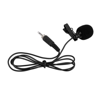Mini Portable Clip-on Lapel Lavalier Hands-free 3.5mm External Screw Lock Jack Microphone Mic for Computer PC Laptop Black - intl