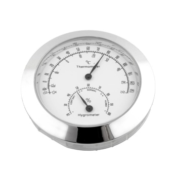 New Silver Round Moisture Thermometer Hygrometer Case For Guitar Violin Bass - intl