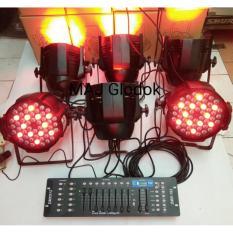 Paket Lampu 6 Par 54 LED Full Color + Mixer DMX-512