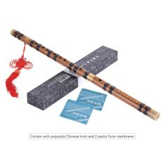 Pluggable Bitter Bamboo Flute Dizi Traditional Handmade Chinese Musical Woodwind Instrument Key of F Study Level