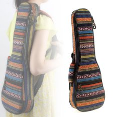 Portable 21 Inch Ukulele Backpack Small Guitar Bag with Soft Pad Cotton Thickening Folk Style - intl