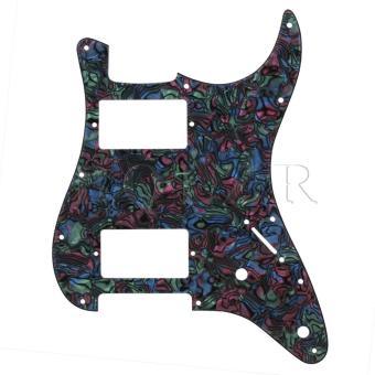 Harga Penawaran PVC & Celluloid 11-Holes HH Electric Guitar PickguardsMulticolor Hot Deals