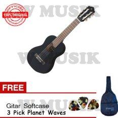 Yamaha Mini Gitar GL - 1 Black + Softcase + 2 Pick