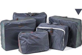 ... Bags in Bag Travel Set 5 in 1 - Abu-abu - 3 ...
