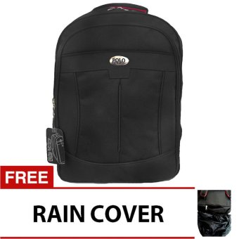 Harga PoloClub Decker Laptop Backpack with Raincover - Hitam