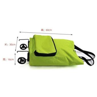 Generic WeekEight Korean Foldable Trolley Bag - Tas Troli Lipat - Hijau -