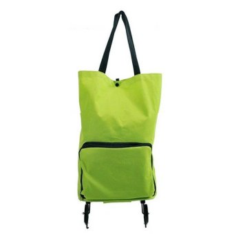Harga Generic WeekEight Korean Foldable Trolley Bag - Tas Troli Lipat - Hijau