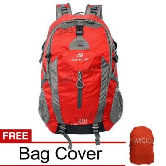 Harga Navy Club Tas Hiking Backpack Ransel Travel Outdoor - Carrier 3550 40 Liter Gratis Rain Cover - Merah