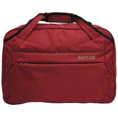 Navy Club Travel bag - Duffle bag - Tas Pakaian Tas Pria Tas Wanita (Tas jinjing Dan Tas Selempang) 2029 - Merah