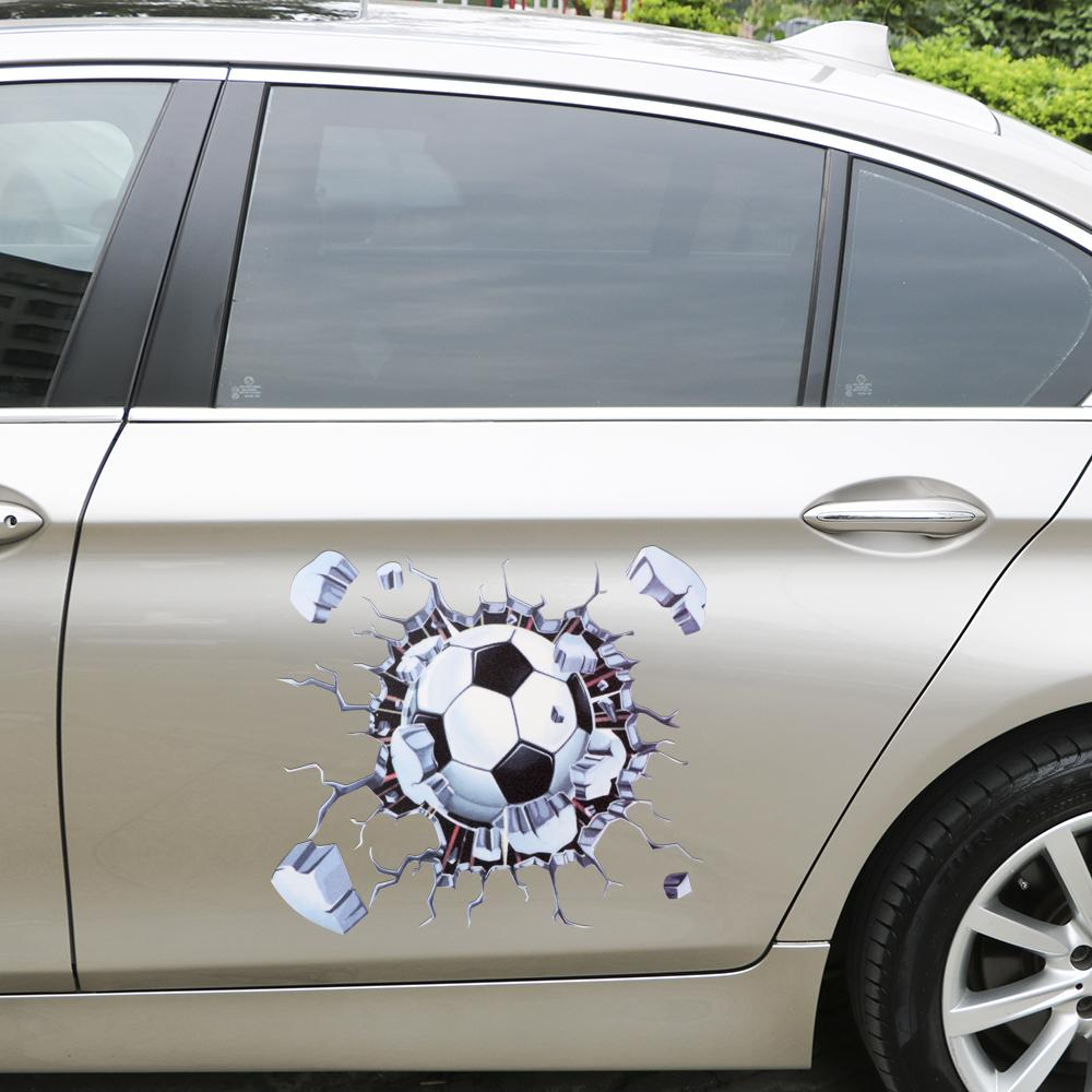 Car exterior accessories 2018 5 cm 3d football car sticker auto body decoration car styling funny car stickers and decals