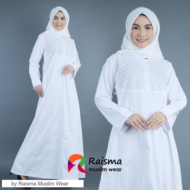 Baju Gamis Wanita Warna Putih / Gamis Warna Putih / Gamis Putih remaja /  Gamis Untuk Umroh / Gamis Polos Warna Putih / Gamis Putih Cubit / GKCP10