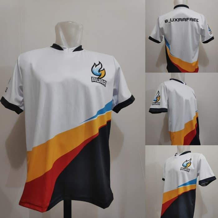 Kaos Team Aura Jersey Game Custom Nick Dan Logo Fullprint T Shirt Esport Jcbandung Lazada Indonesia