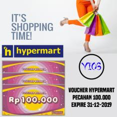 2 lembar voucher hypermart 100.000