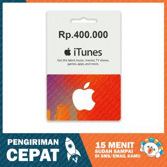 Apple iTunes Gift Card Region Indonesia Rp. 400.000