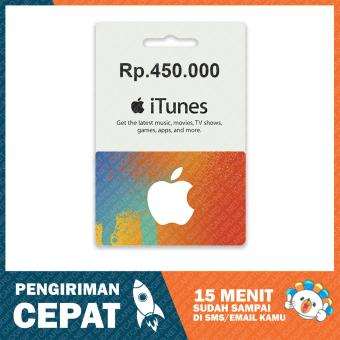 Apple iTunes Gift Card Region Indonesia Rp. 450.000