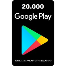 GOOGLE PLAY GIFT CARD INDONESIA 20.000