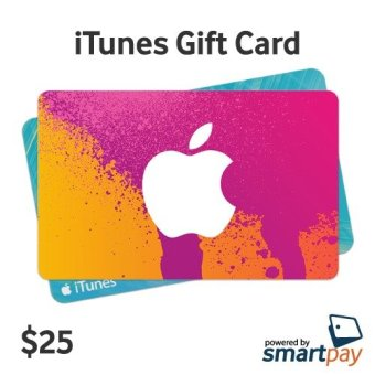 Smartpay Apple Itunes Gift Card Region US $25 .