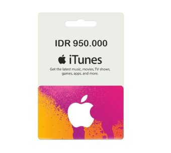 iTunes Gift Card Indonesia 950 000 .
