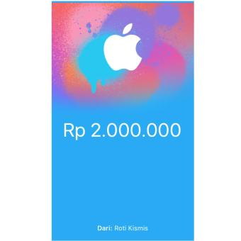 iTunes Gift Card Indonesia - 2.000.000