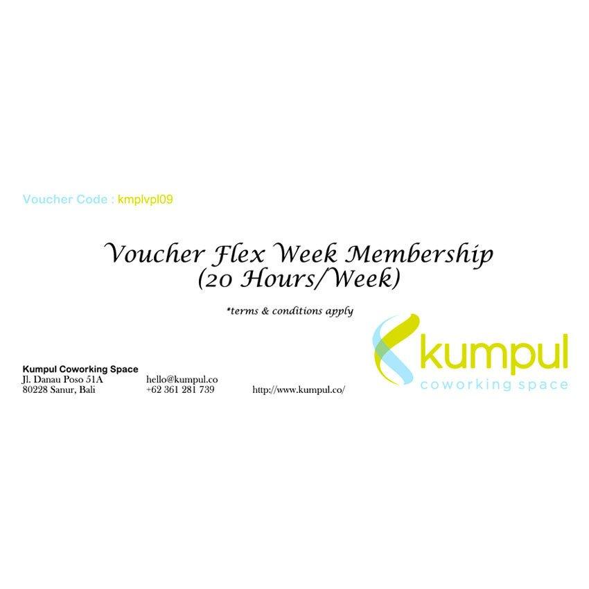 Kumpul Voucher Flex Week Membership - 20 Jam/Minggu – Kumpul Coworking Space - Bali