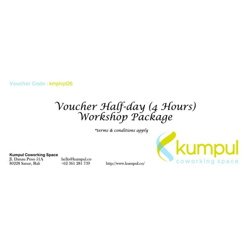 Kumpul Voucher Half-day Workshop Package Kumpul Coworking Space - 4 Jam