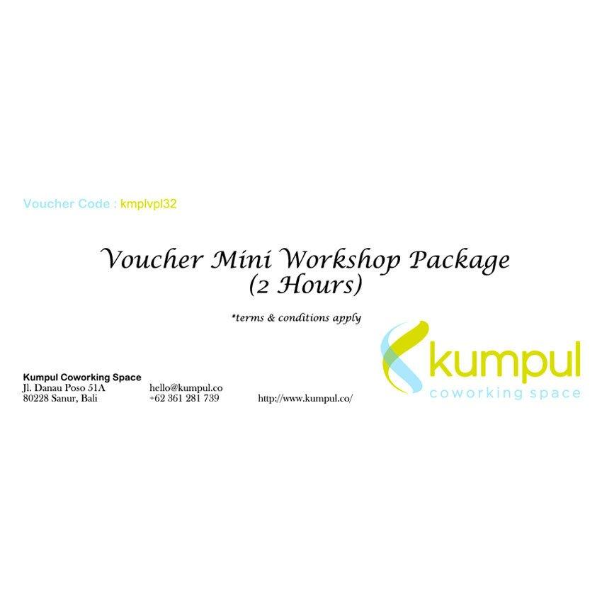 Kumpul Voucher Mini Workshop Package Kumpul Coworking Space - 2 Jam