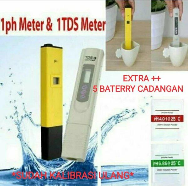 Ph Meter Dan Tds Meter Hidroponik Satu Set Ph Meter Dan Tds Meter