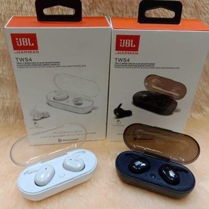 Headset Bluetooth Merek Jbl Tws4 Bt Sport Bass Earphone Handsfree Stereo Wireless Lazada Indonesia