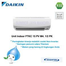 AC DAIKIN SPLIT FTKC15PVM4 1/2 PK (INVERTER) - Putih