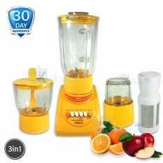 Airlux Magic Blender BL-3042X Glass Jar3in1 Bahan Kaca Low Watt with Grinder 1000 ML + Saringan Buah dan Mini Chopper - Oranye