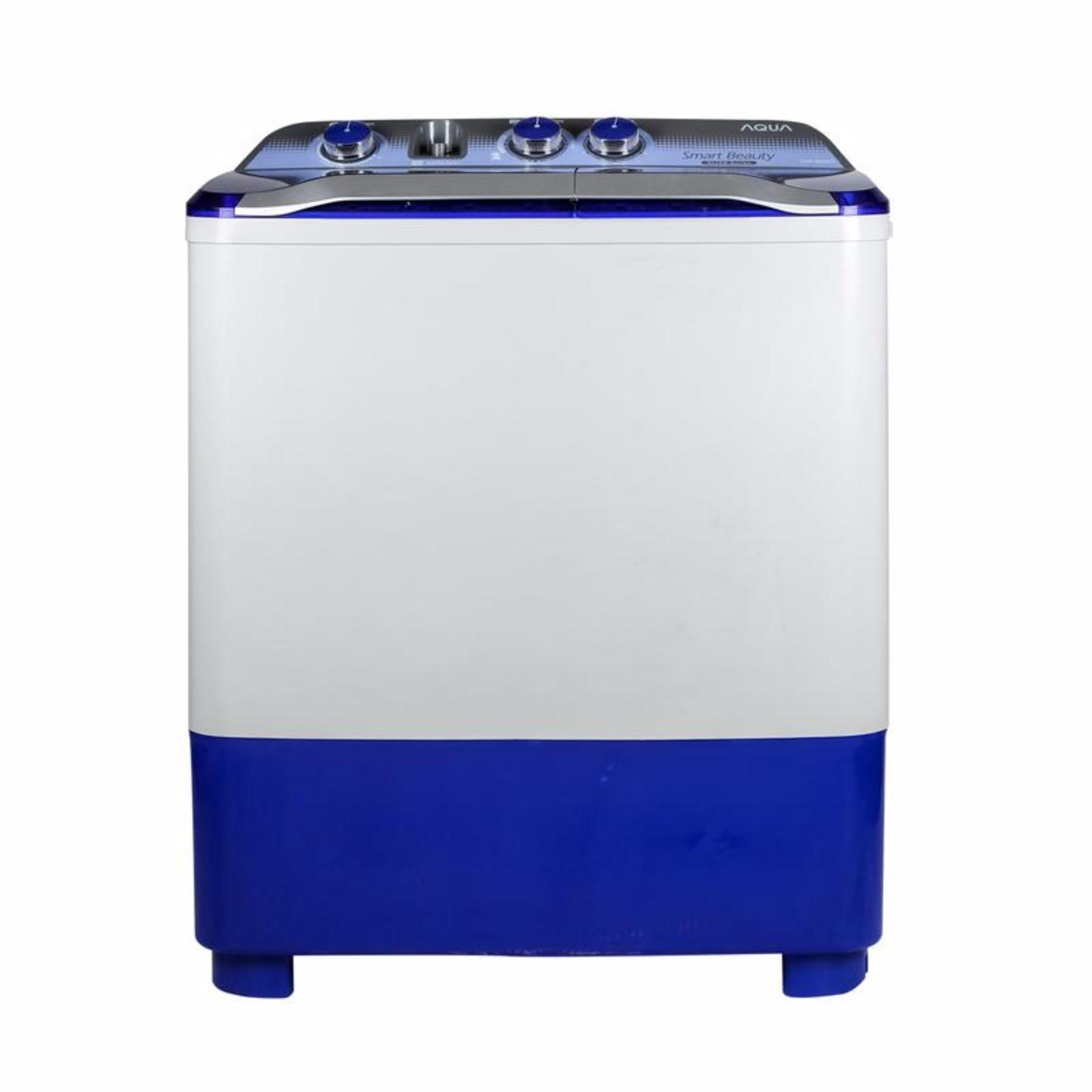 Aqua - Qw 880 Xt - Mesin Cuci 2 Tabung - Blue