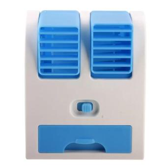 Babanesia Kipas Angin Mini AC Portable Duduk Twin Double Fan Parfum - 3