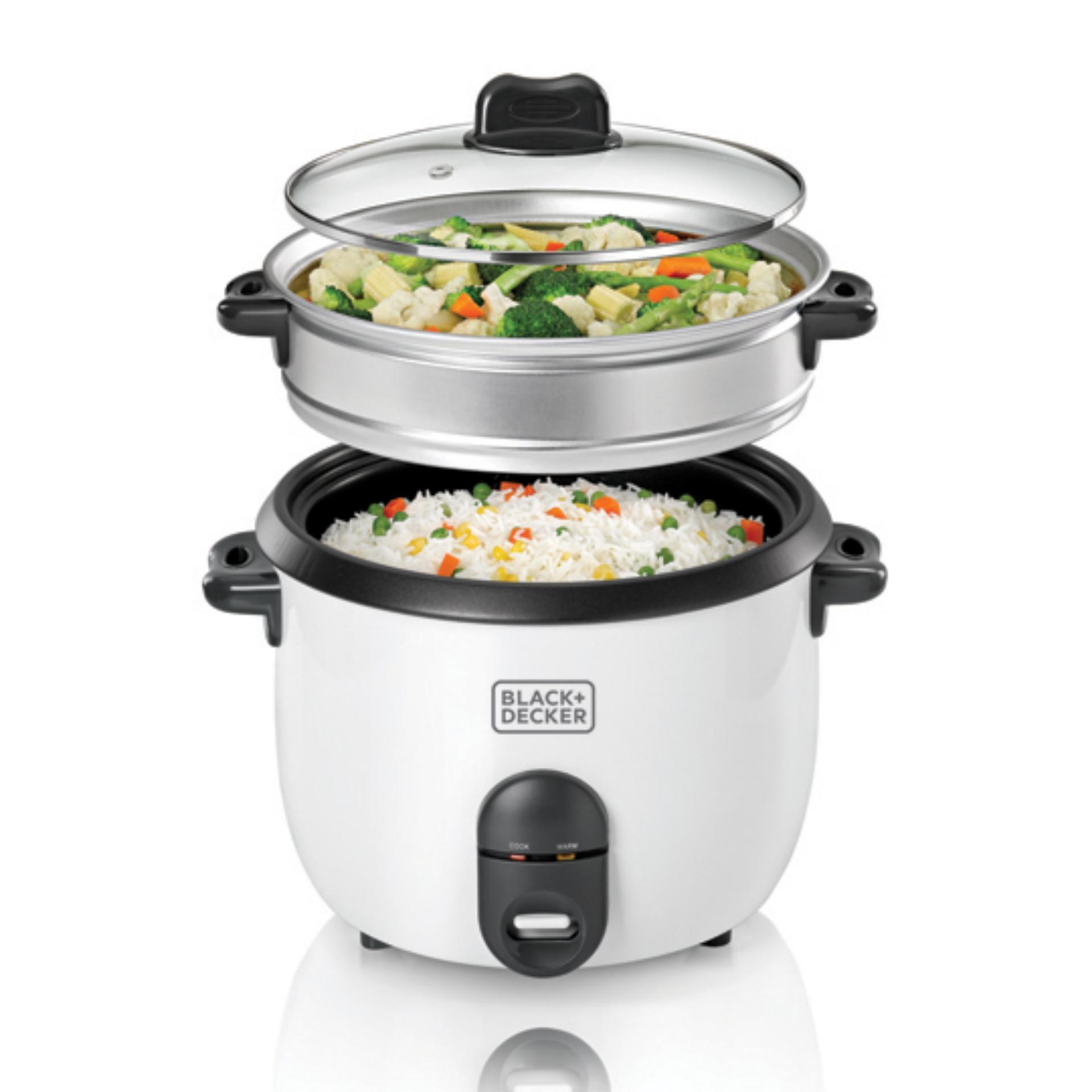 Black & Decker Automatic Rice Cooker RC1860(Garansi resmi black&decker)-putih