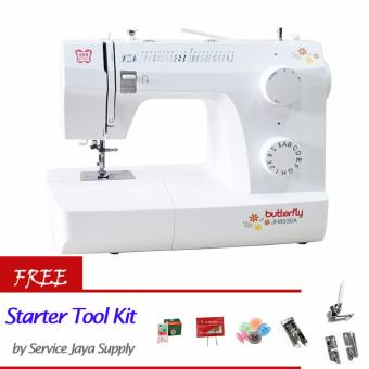 Butterfly JH 8530A Mesin Jahit Portable +FREE Starter SJS Tool Kit