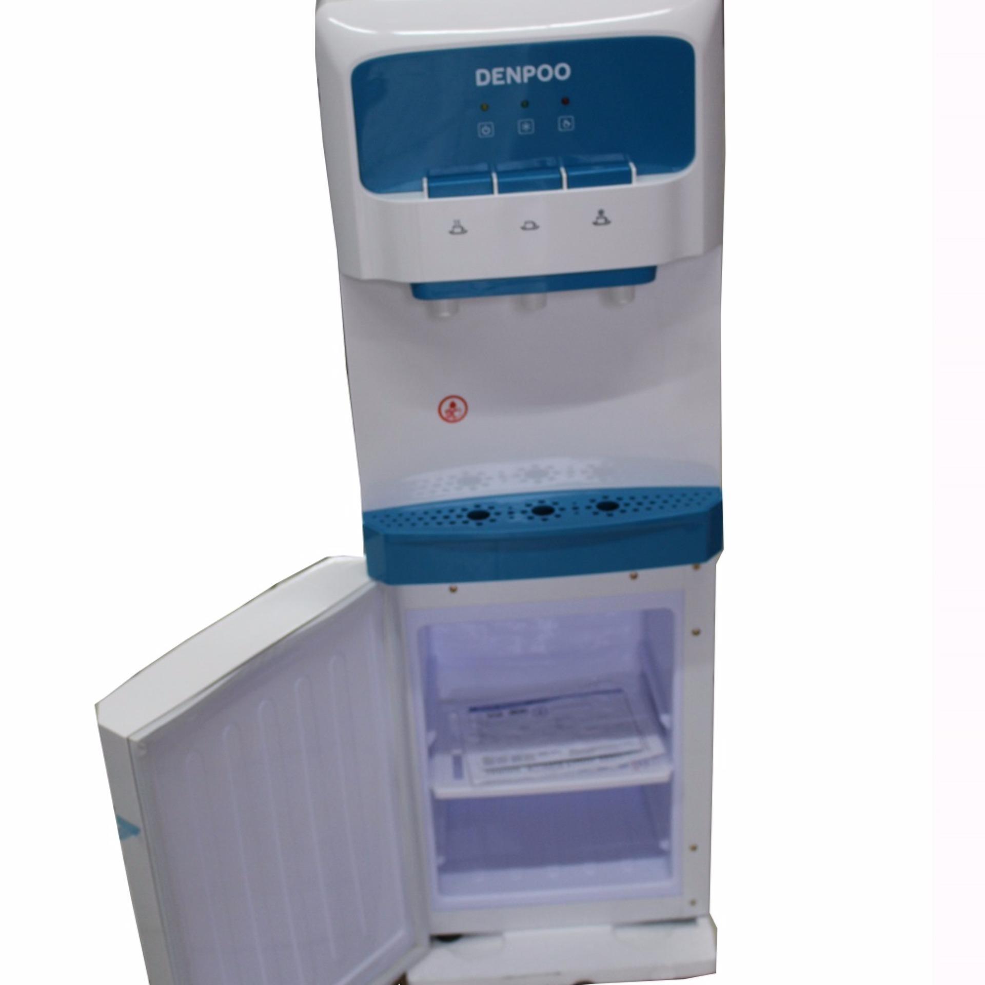 Denpoo DDK-205 Penso Dispenser Air Galon Atas 3 Kran (Kompresor) -KHUSUS
