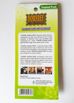Bonbon Dorfree Pengharum Mobil Dan Ruangan Botol Orange Daftar Source · Dorfree Hanging Paper Tropical Fruit