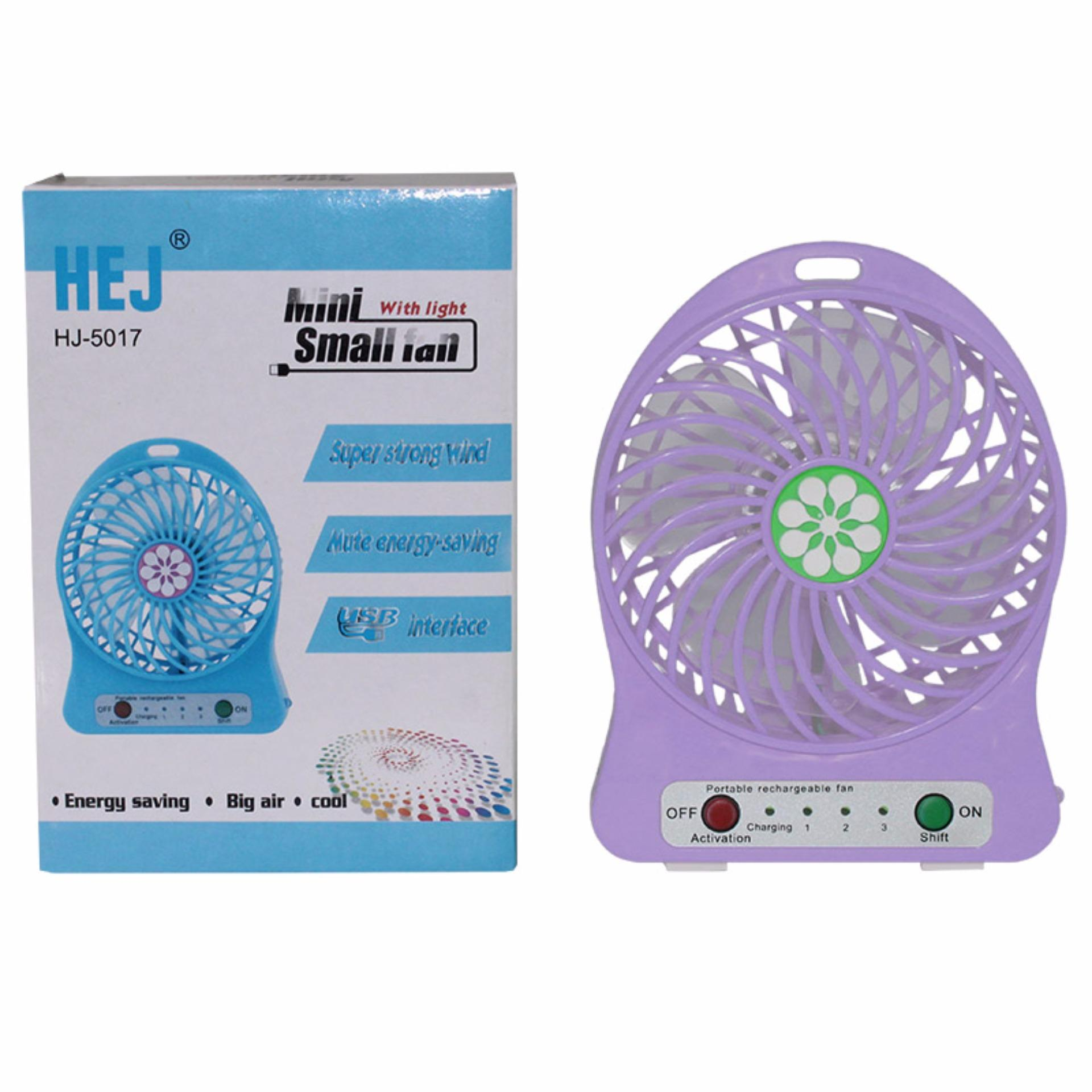 EELIC MIF-5017 UNGU Kipas Angin Mini Fan USB Portable Praktis .