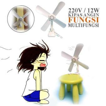 EELIC Mini fan Kipas Angin 4 Baling Baling Jepit 12W Gukuran 43cm JM .