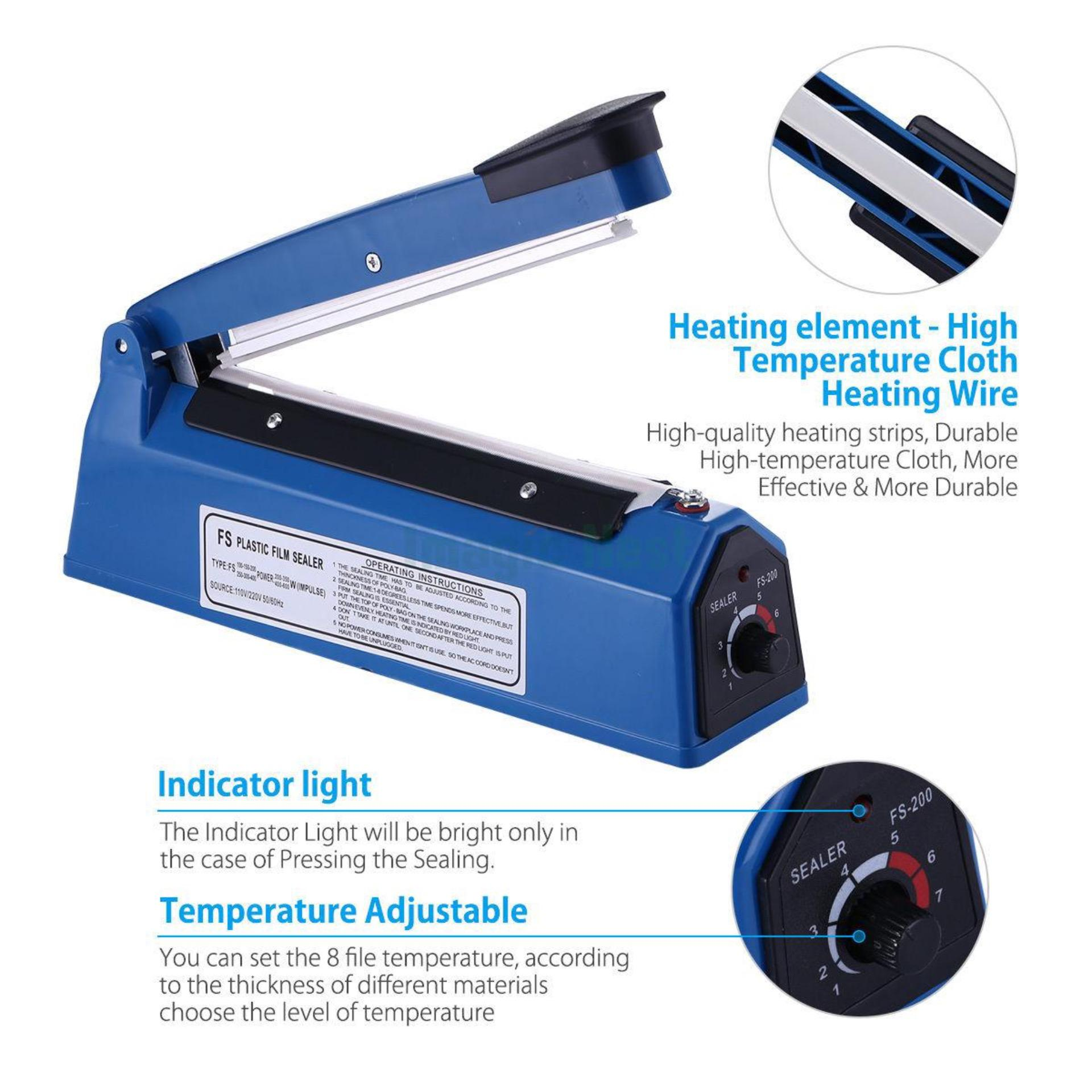 Enter Impluse Sealer Alat Press Plastik 20cm EN-200A ( PVC )