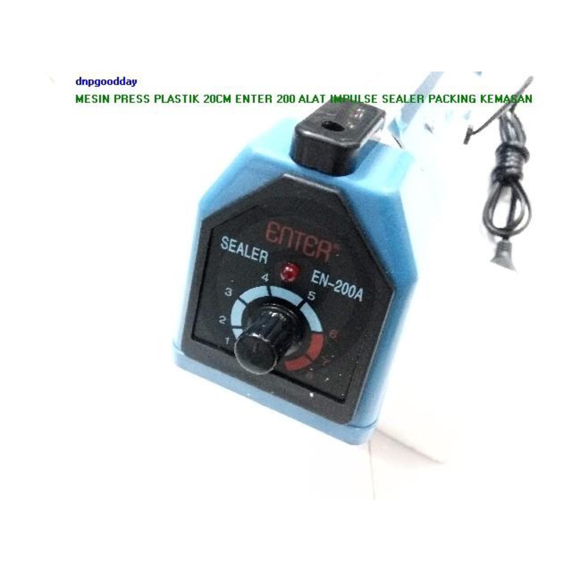Enter Impulse sealer Alat Press Plastik 20 CM EN-200A ( PVC ) - Biru