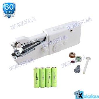 Genius Handy Stitch Mesin Jahit Portabel 4 Pcs AA Battery Bundle