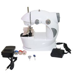 Goshop Mini Sewing Machine 4 in 1 Mesin Jahit Portable Include Adaptor - Putih