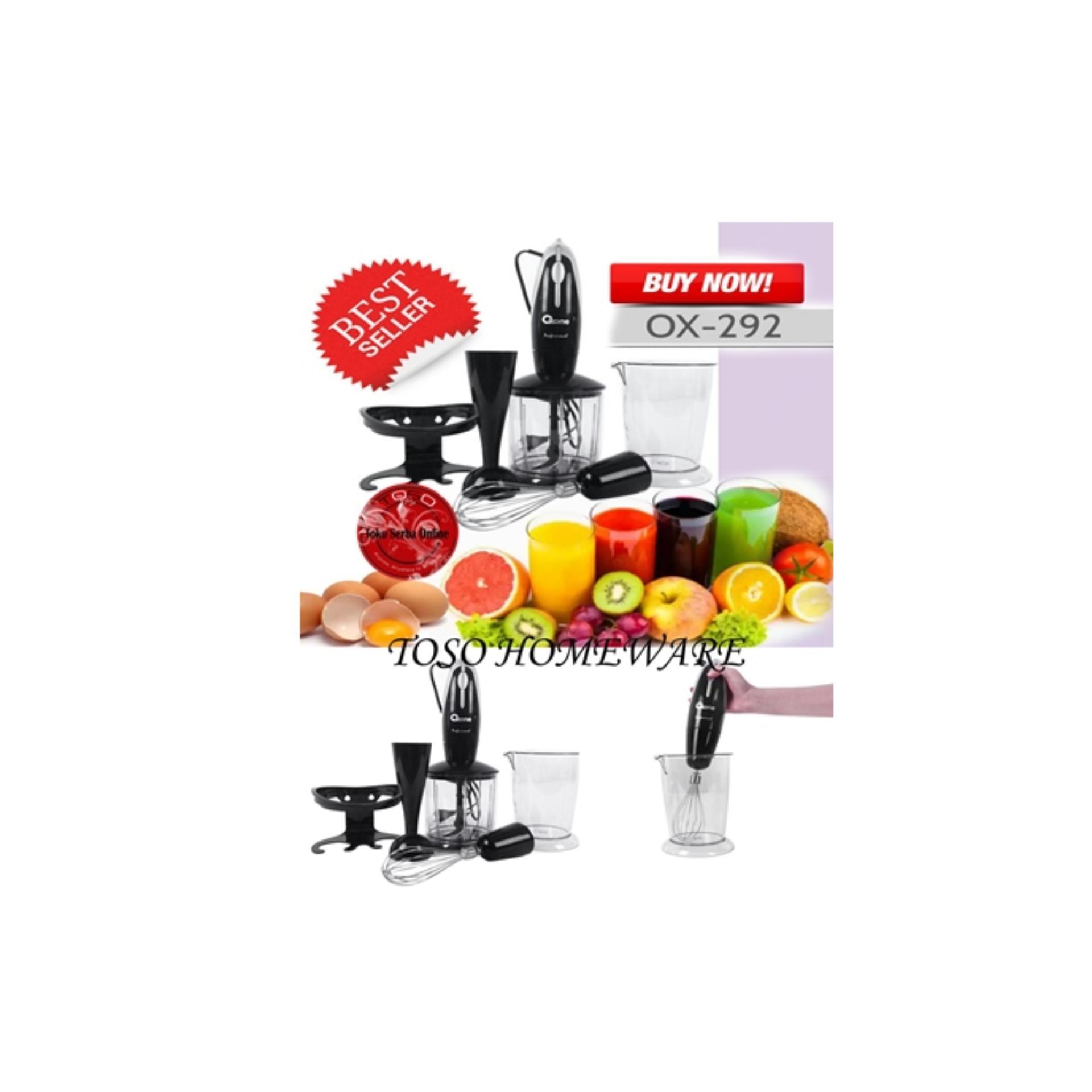 Hand Blender and Chopper Oxone Ox-292 4 in 1, Blender Tangan,Juicer