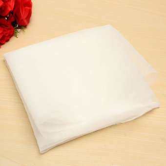 Harga 120 Mesh/125 Nylon Filter Mesh Cloth Fabric Water Liquid Strain Polyester White - intl