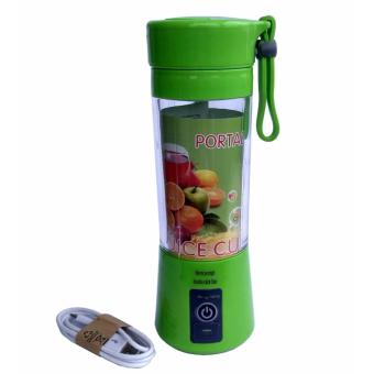 Harga Portable Blender Juice Cup Mini Electric 380ML Rechargeable - Hijau