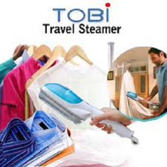 Harga Tobi Travel Steam Wand Brush & Iron Setrika Uap Portable - BIRU