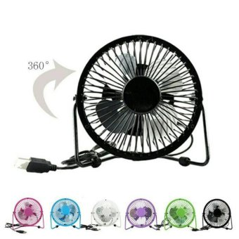 Harga Portable Mini Fan USB / Kipas Angin Kecil Model Besi