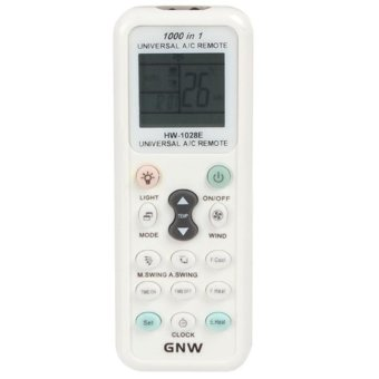 Harga GNW K-1028E 1000 in 1 Universal A/C Remote Controller with Back Light Function for Air Conditioner - intl(…)